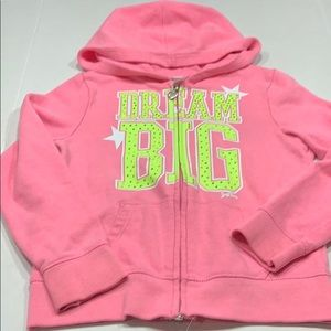 Justice Girls Pink Hoodie Sz 6